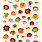 Daiso Japan Lots of Lions Puffy Sticker Sheet Kawaii