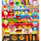 Q-Lia Japan Happy Festival Puffy Sticker Sheet Kawaii