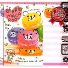 Crux Japan Bear Macaroon Letter Set with Stickers Kawaii