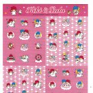 Sanrio Japan Little Twin Stars Sticker Sheet 2006 Kawaii