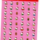 Sanrio Japan Hello Kitty and Bear Sticker Sheet 1993 Kawaii