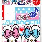 Q-Lia Japan Rabbit Twins Letter Set with Stickers Kawaii