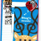 Crux Japan Stag's Music Letter Set with Stickers Kawaii