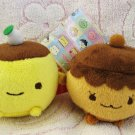 Nagomidou Japan Pudding and Coffee Muffin Plush Keychains Set of 2 Kawaii
