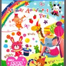 Mind Wave Japan Animal Amusement Park Mini Memo Pad with Sticker Kawaii