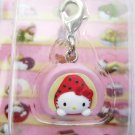 Sanrio Japan Hello Kitty Strawberry Mochi Mascot Charm New in Box 2007 Kawaii