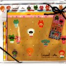 Q-Lia Japan Caramel Cotton Letter Set with Stickers Kawaii