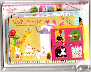 Q-Lia Japan Warm Family Letter Set Kawaii
