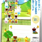 Wizard Japan Little Rabbit Letter Set with Stickers (B) Kawaii