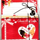 Q-Lia Japan Choco Chip Cafe Letter Set Kawaii