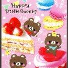 Crux Japan Happy Pink Sweets Mini Memo Pad Kawaii