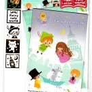 Kamio Japan Fairy Tale World Letter Set with Stickers (B) Kawaii