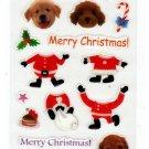 Active Japan Merry Christmas Dogs Sticker Sheet Kawaii