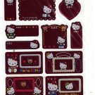Sanrio Japan Hello Kitty Message Sticker Sheet 1997 Kawaii