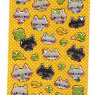 Very Berry Japan Cats and Clover Epoxy Sticker Sheet Kawaii