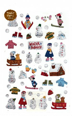Alpha Point Japan Winter Paradise Sticker Sheet Kawaii