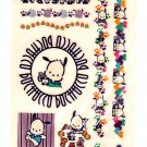 Sanrio Japan Pochacco Temporary Tattoos Sheet 1998 Kawaii