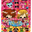 Crux Japan Maple Girls Dress-Up Puffy Sticker Sheet Kawaii