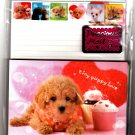 Kamio Japan Tiny Puppy Love Letter Set with Stickers Kawaii