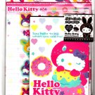 Sanrio Japan Hello Kitty Colorful Bunny Letter Set with Stickers by Sun Star (B) 2010 Kawaii