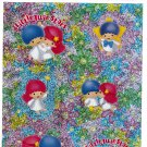 Sanrio Japan Little Twin Stars Sticker Sheet 1998 Kawaii