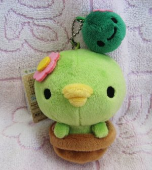 San-X Japan Sabokappa Plush Keychain 2008 Kawaii