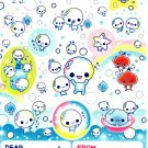 Kamio Japan Awawa Chan Sticker Sheet from Memo Pad (B) Kawaii