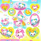 Kamio Japan Happy March Sticker Sheet from Memo Pad Kawaii