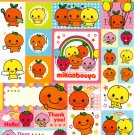 San-X Japan Mikan Bouya Sticker Sheet from Memo Pad (A) Kawaii