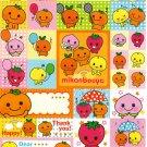 San-X Japan Mikan Bouya Sticker Sheet from Memo Pad (B) Kawaii