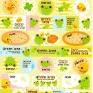 Q-Lia Japan Green Frog Sticker Sheet from Memo Pad Kawaii