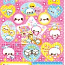 Crux Japan Marshmallow Friends Sticker Sheet from Memo Pad Kawaii