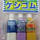 Iwako Japan Bottled Drinks Diecut Erasers Set of 3 Kawaii