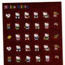 Sanrio Japan Hello Kitty and Bear Foil Sticker Sheet 1994 Kawaii