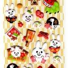 Sakura Japan Year of the Rabbit Puffy Sticker Sheet Kawaii