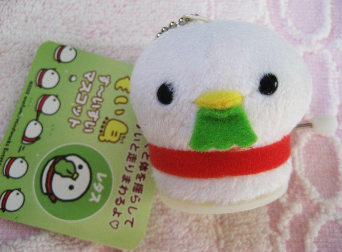 Iwaya Japan Bird Plush Wind-Up Toy Keychain Strap (B) New with Tag Kawaii