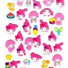 Sanrio Japan My Melody Cute Model Sticker Sheet (A) 2010 Kawaii
