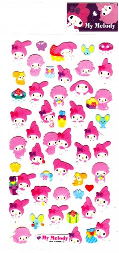 Sanrio Japan My Melody Cute Model Sticker Sheet (A) 2010 Kawaii