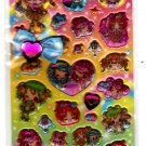 Pool Cool Japan Kirakira Girls Dance Party Puffy Sticker Sheet Kawaii