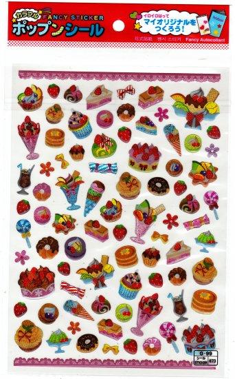 Daiso Japan Desserts Epoxy Sticker Sheet Kawaii