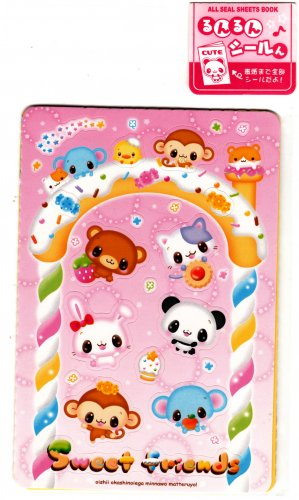 Q-Lia Japan Sweet Friends All Seal Sheets Book Sticker Book Kawaii