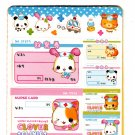 Q-Lia Japan Clover Clinic All Seal Sheets Book Sticker Book Kawaii