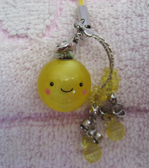 Japan Orange Cell Phone Strap New with Tag Kawaii