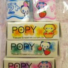 Lemon Japan Popy Tissues Animals Erasers Set Kawaii