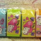Sanrio Japan Hello Kitty Girly Mini Erasers Set of 6 2007 Kawaii