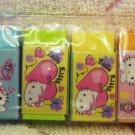 Sanrio Japan Hello Kitty Girly Mini Erasers Set of 6 2007 Kawaii