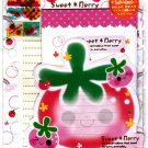 Wizard Japan Sweet Berry Letter Set with Stickers Kawaii