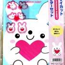 Wizard Japan Fuwawan Rabbit Letter Set with Stickers Kawaii