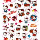 Sanrio Japan Hello Kitty Basketball Puffy Sticker Sheet 2009 Kawaii