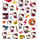 Sanrio Japan Hello Kitty Brass Band Puffy Sticker Sheet 2009 Kawaii